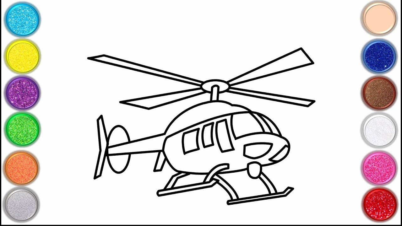 Glitter Helicopter Coloring Pages For Kids Flying Helicopters Drawing Coloring Pages For Kids Coloring Pages Flying Helicopter [ 720 x 1280 Pixel ]