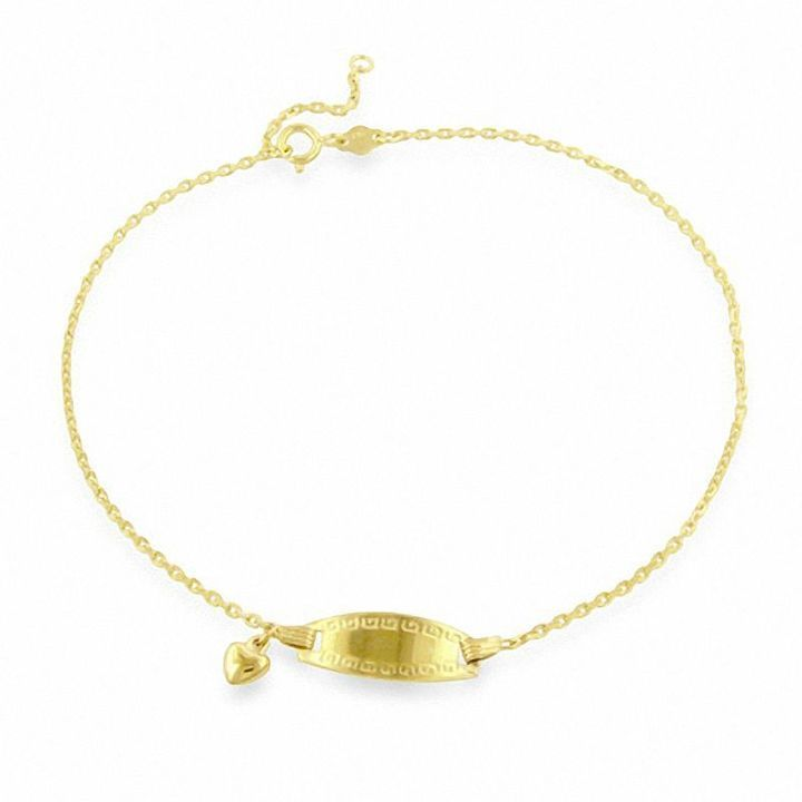 link solid mariner dp gold jewelryweb yellow anklet claw lobster inch