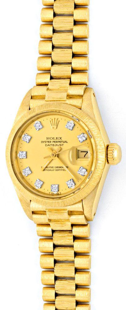rolex damen armbanduhr gold diamant zifferblatt gepr ft u1309 luxus uhren von www. Black Bedroom Furniture Sets. Home Design Ideas