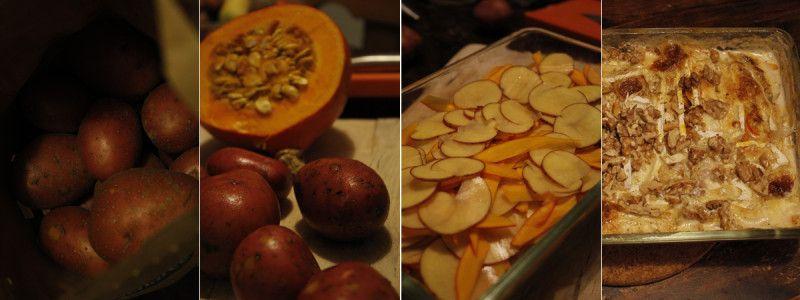 Kürbis Kartoffel Auflauf #vegetarian #pumpkin