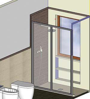 Finestra nella doccia casa pinterest finestra bagno for Finestra nella dacia