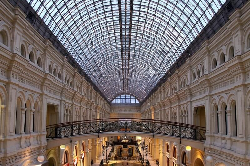 Interior image of Gum in Moscow, Russia