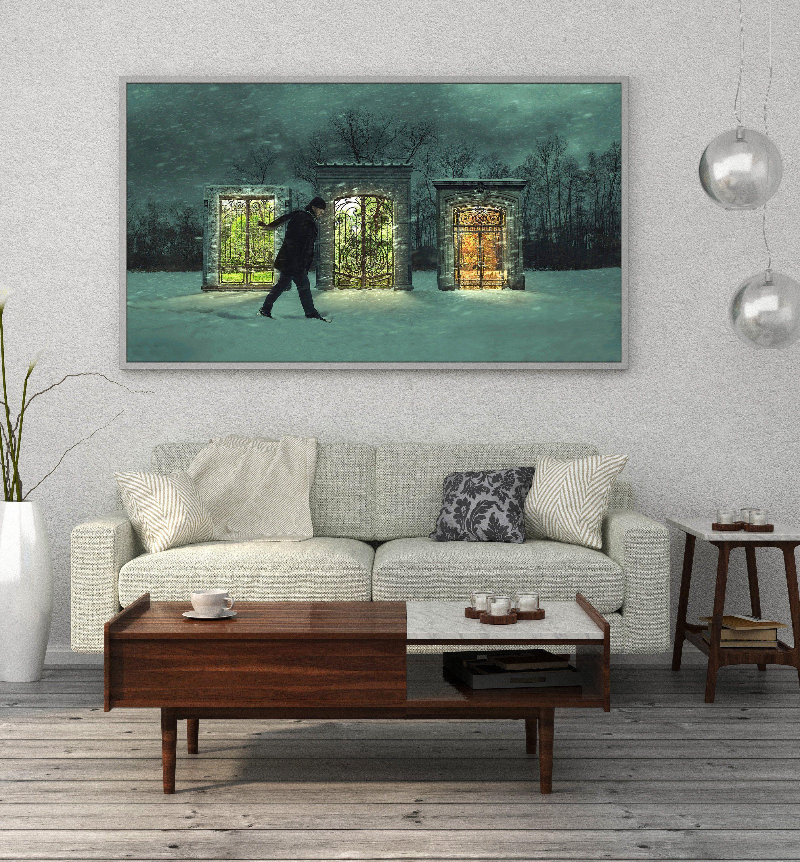 Oversized wall art fantasy winter scene fine art photography fine