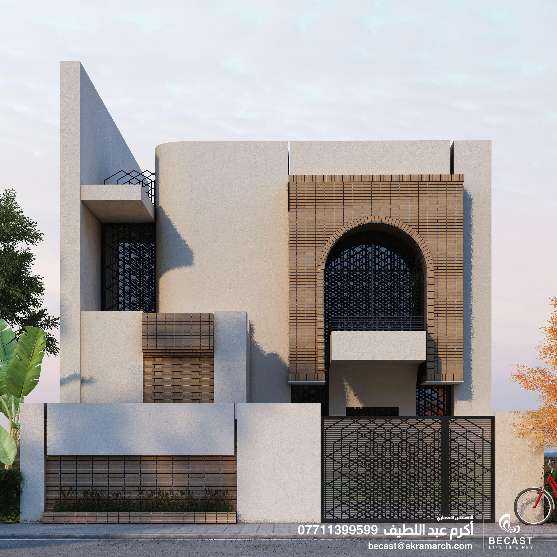 تصميم واجهة 10 م لمنزل في بغداد Home Design Floor Plans House Plans House Styles