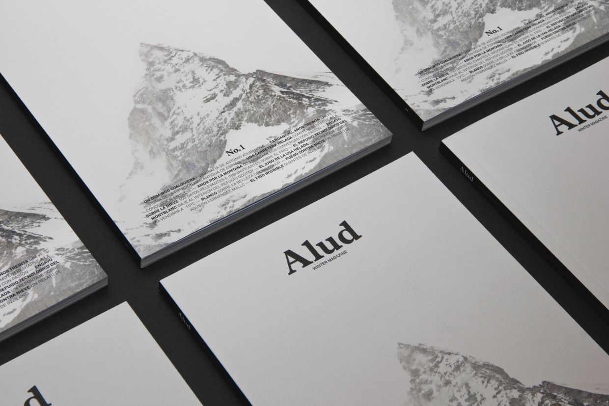 Alud. Winter Magazine nº1 Cover on Behance