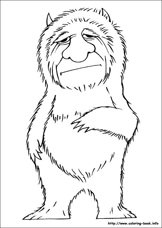 Where the wild things are coloring picture   Wild Things   Pinterest ...