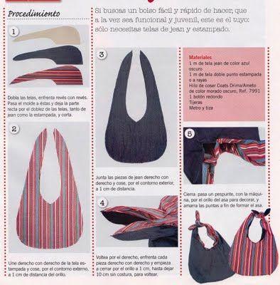 d19956265 UNA CHECHI: BOLSOS Bolsos De Tela Patrones, Tipos De Patrones, Tipos De  Vestimenta
