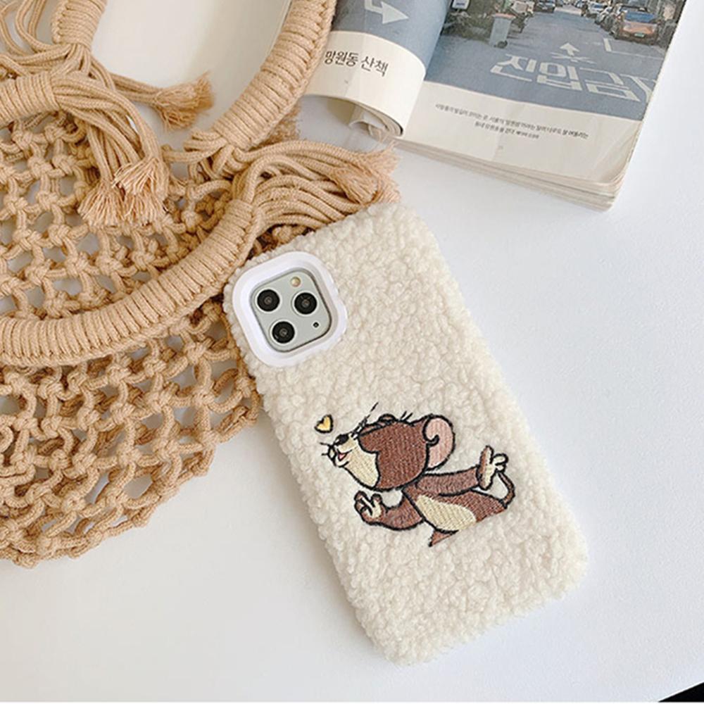 2020 的 Cute 3D Embroidery Tom Jerry Plush Hand Warmer Soft
