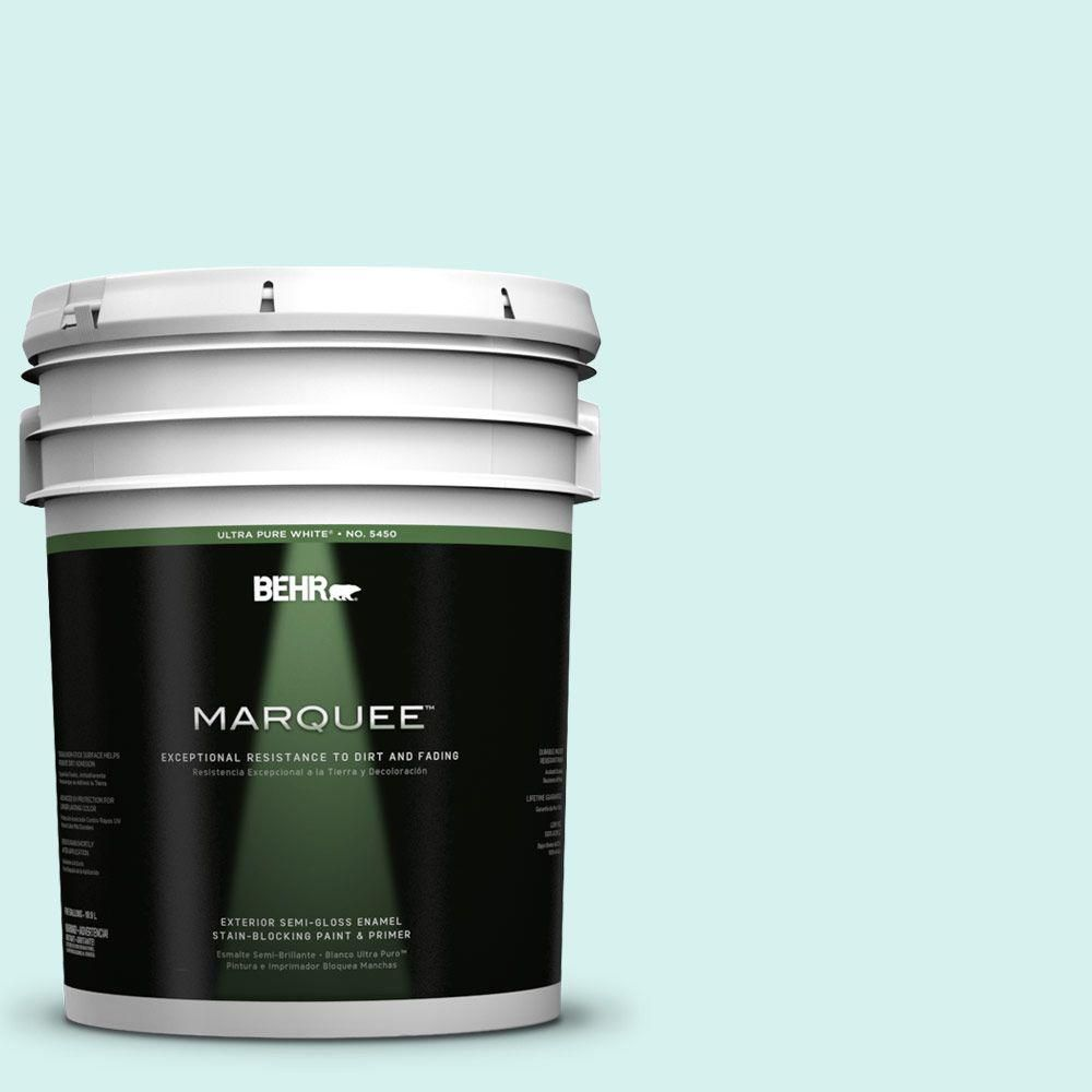 BEHR MARQUEE 5-gal. #P450-1 Sea Ice Semi-Gloss Enamel Exterior Paint