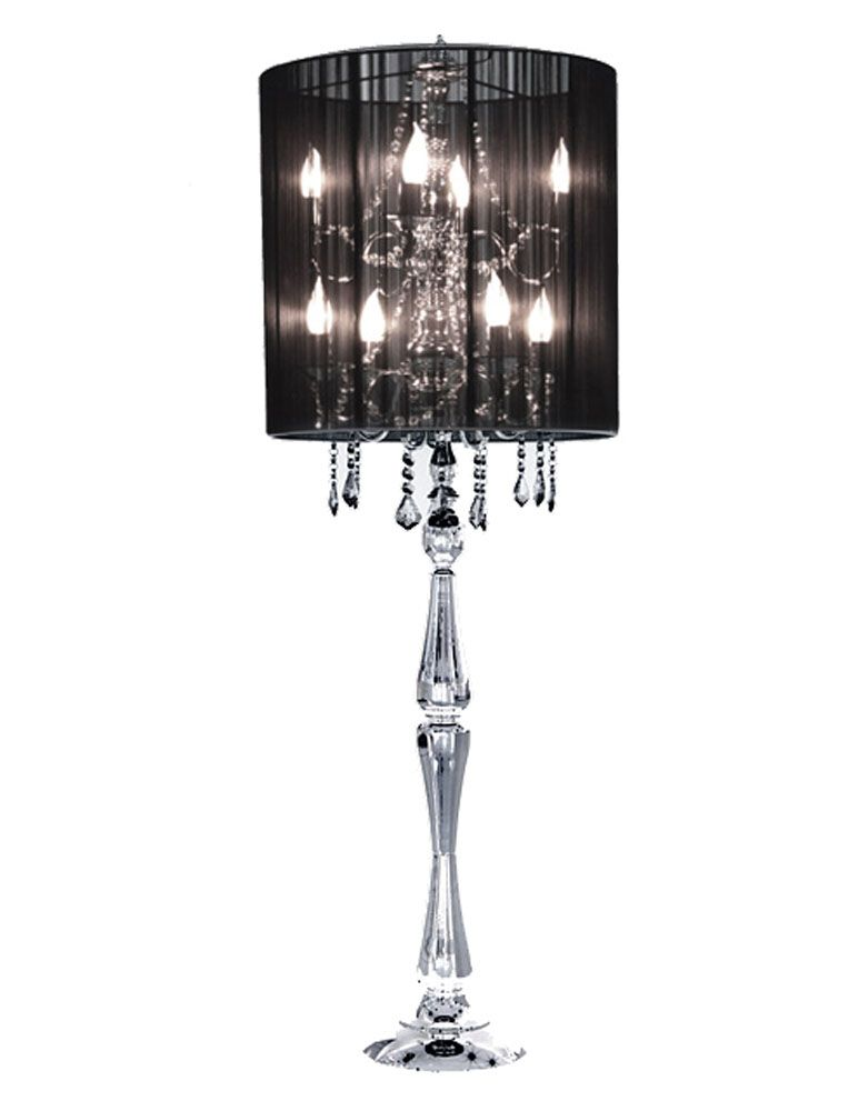 Stylish classical floor lamp by modani make a statement luxury i crystal black floor lamp by modani infatuated with this aloadofball Images