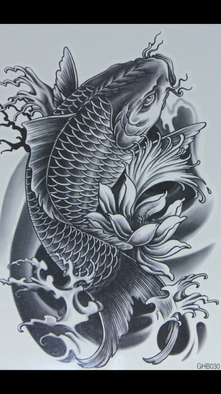 Pez Koin Koi Dragon Tattoo Koi Fish Drawing Tattoo Koi Tattoo Design