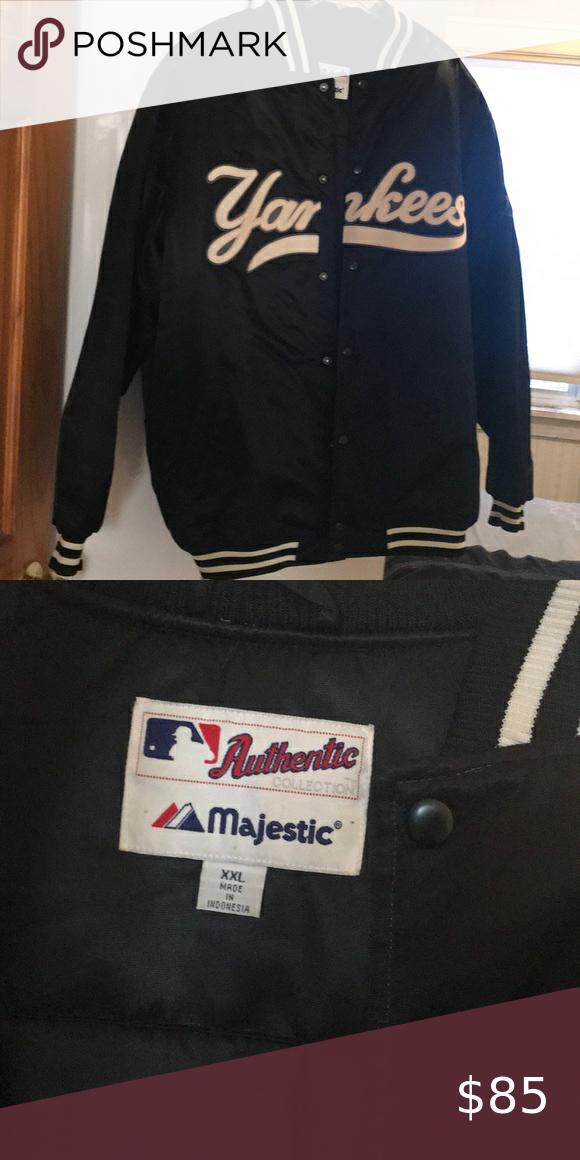 Yankees Majestic Jacket In 2020 Jackets Varsity Jacket Jackets Coats