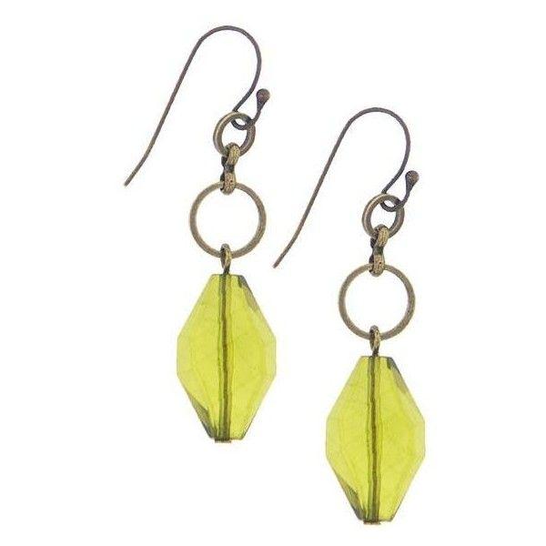 2028 Jewelry Vintage Green Drop Earrings featuring polyvore women's fashion jewelry earrings 2028 jewelry women vintage jewellery green earrings retro jewelry 1928 jewelry vintage earrings