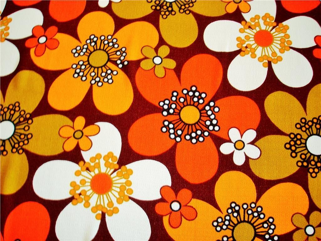 f02efd077296 Retro 60-tal 70-tal gardinlängd / tyg flower power | Nostalgi in ...