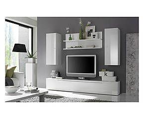 Composizione da soggiorno Athena bianco - 4 pz
