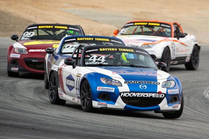 MX5 Cup Gallagher takes first win in Monterey race 2
