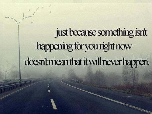 Be patient..