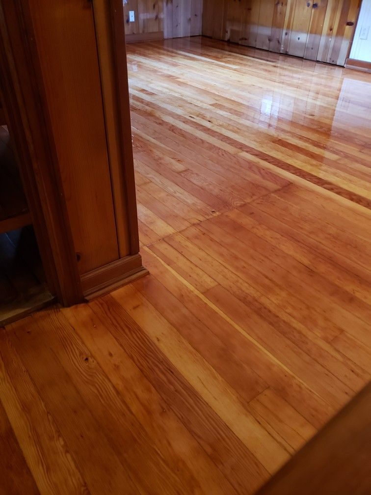 Fir Floor Refinished With Conversion Varnish Refinishing Floors Refinishing Hardwood Floors Wood Floors