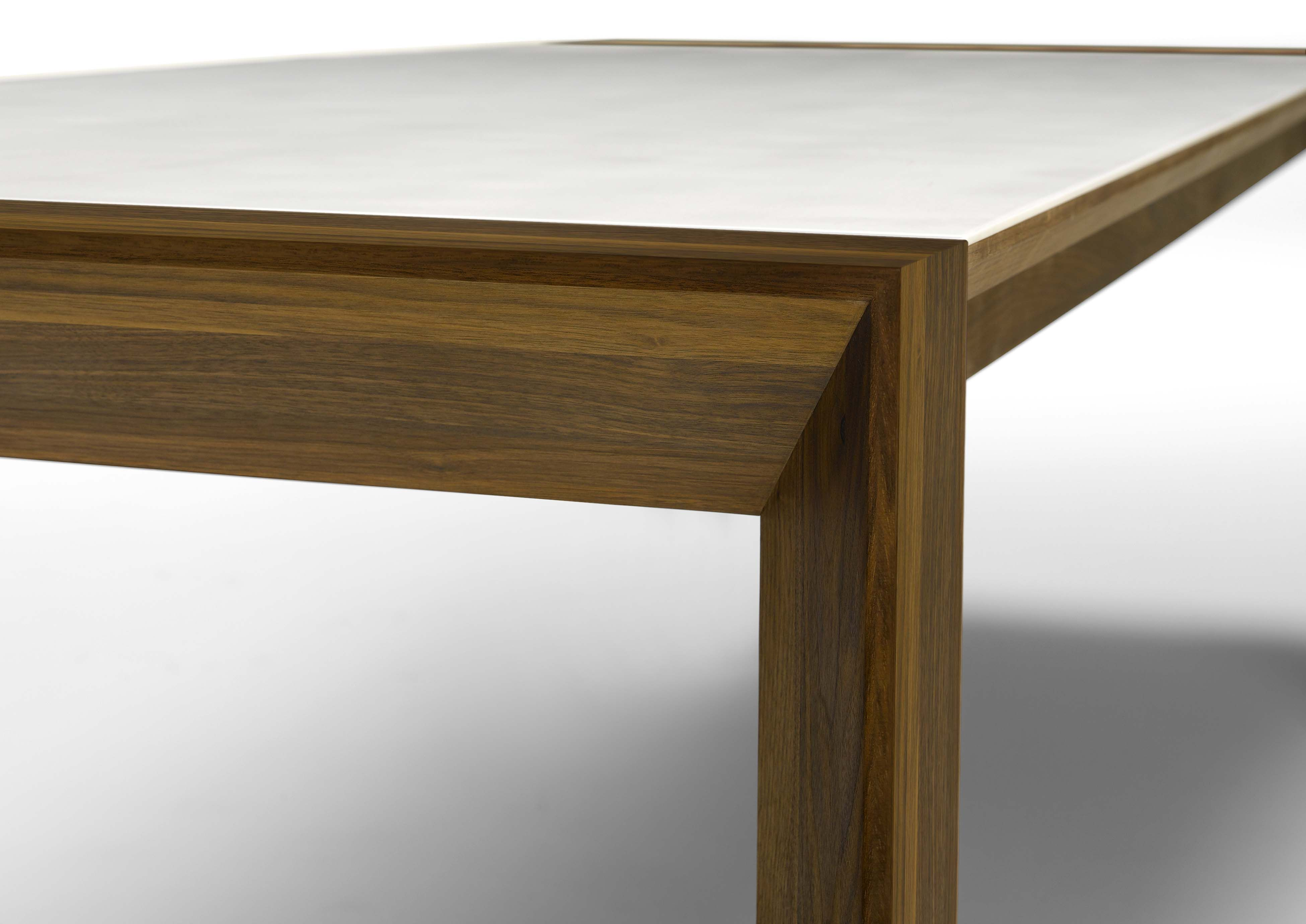 GM 7700 Corian extending table with folding plate and 4mm