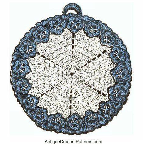 Flower Edged Potholder Free Crochet Potholder Pattern Crochet