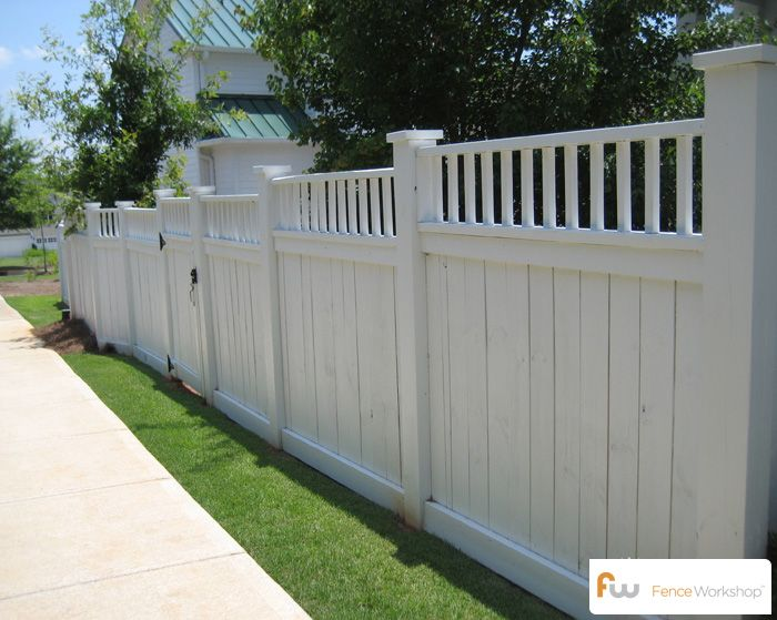 Delicieux When We Redo The Fence This Summer This Is What I Want.. Just Not White,will  Keep Wood Look.