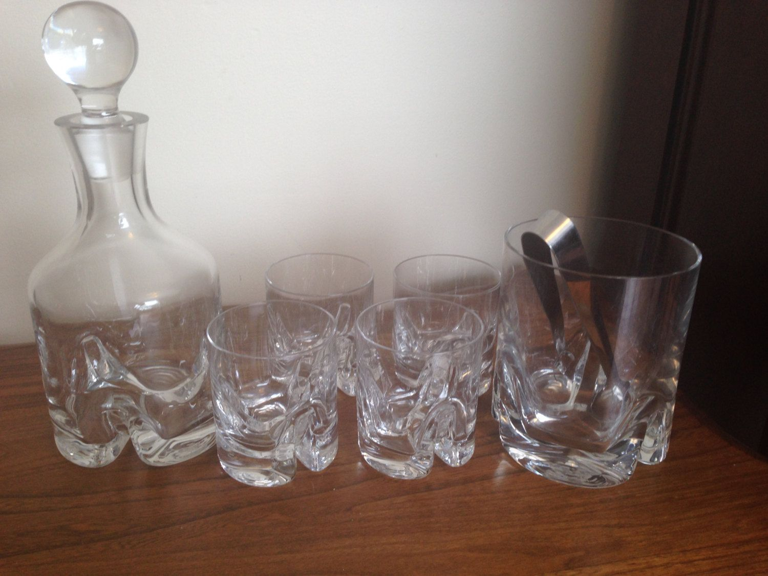 Vintage Krosno Crystal Glass Industries Barware Set By ChrisTineDecor On  Etsy