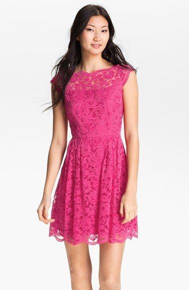 Cynthia Steffe Hannah Lace Fit Flare Dress Nordstrom