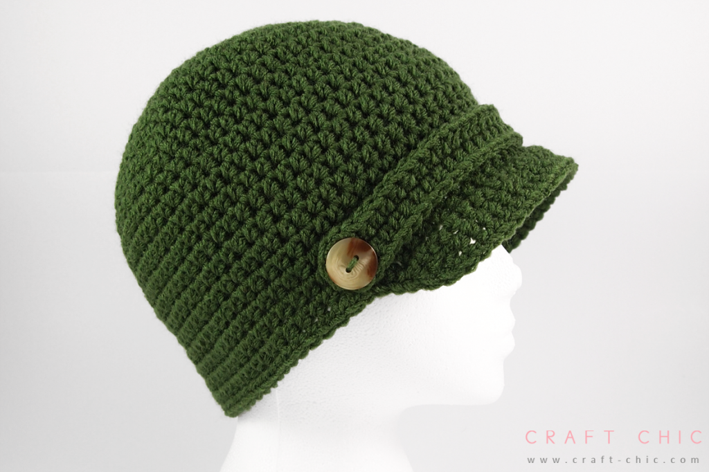 Free Crochet Pattern: Basic Newsboy Hat | Eliane | Pinterest ...
