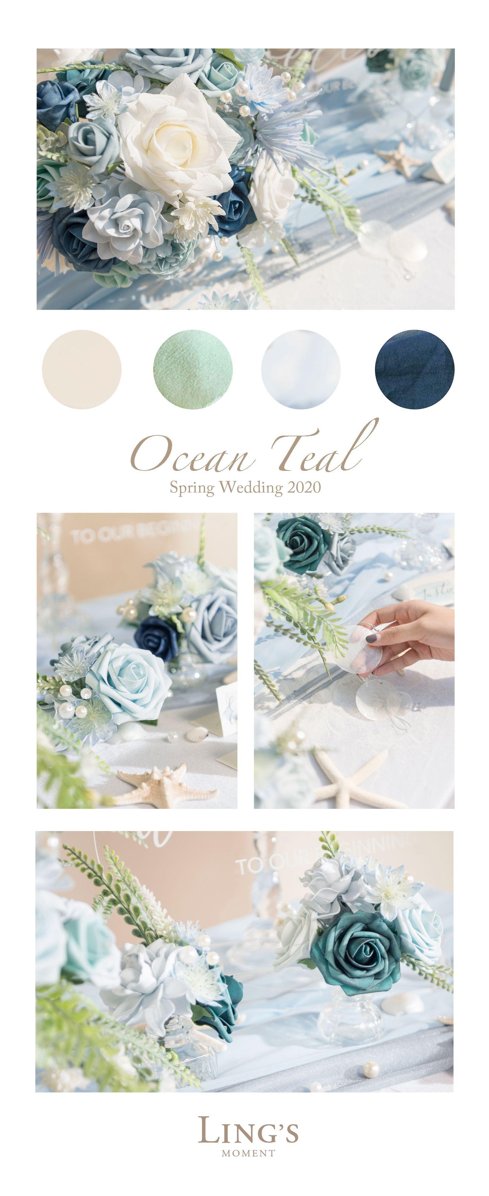 Dusty Blue Flowers Box Set - 18 Styles