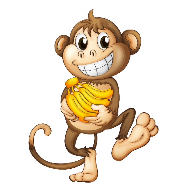 cartoon-monkey-image_4.png (600×600) | Cakes - Prints ...
