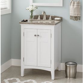 Inspiration Web Design allen roth Brisette Cream Undermount Single Sink Poplar Bathroom Vanity with u