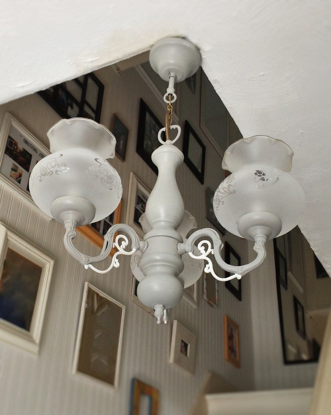 shabby chic lighting. Shabby Chic Lighting Fixtures. Chandelier Light Fixture, Gorgeous Paris Grey With Old White Detail 4