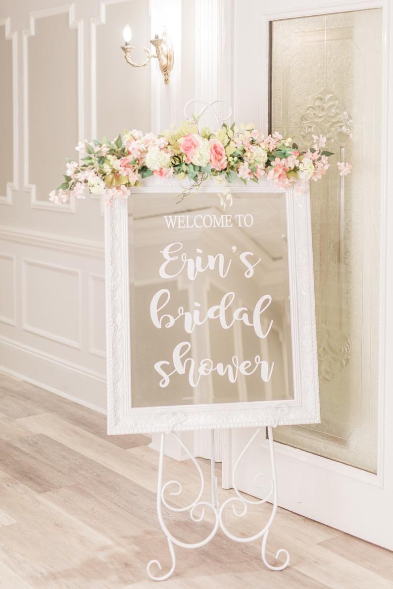 Bridal Shower Sign, Bridal Shower, Bridal Shower Decor, Rustic Bridal Shower, Wedding Shower, Personalized Sign, Chalkboard Sign, Vinyl