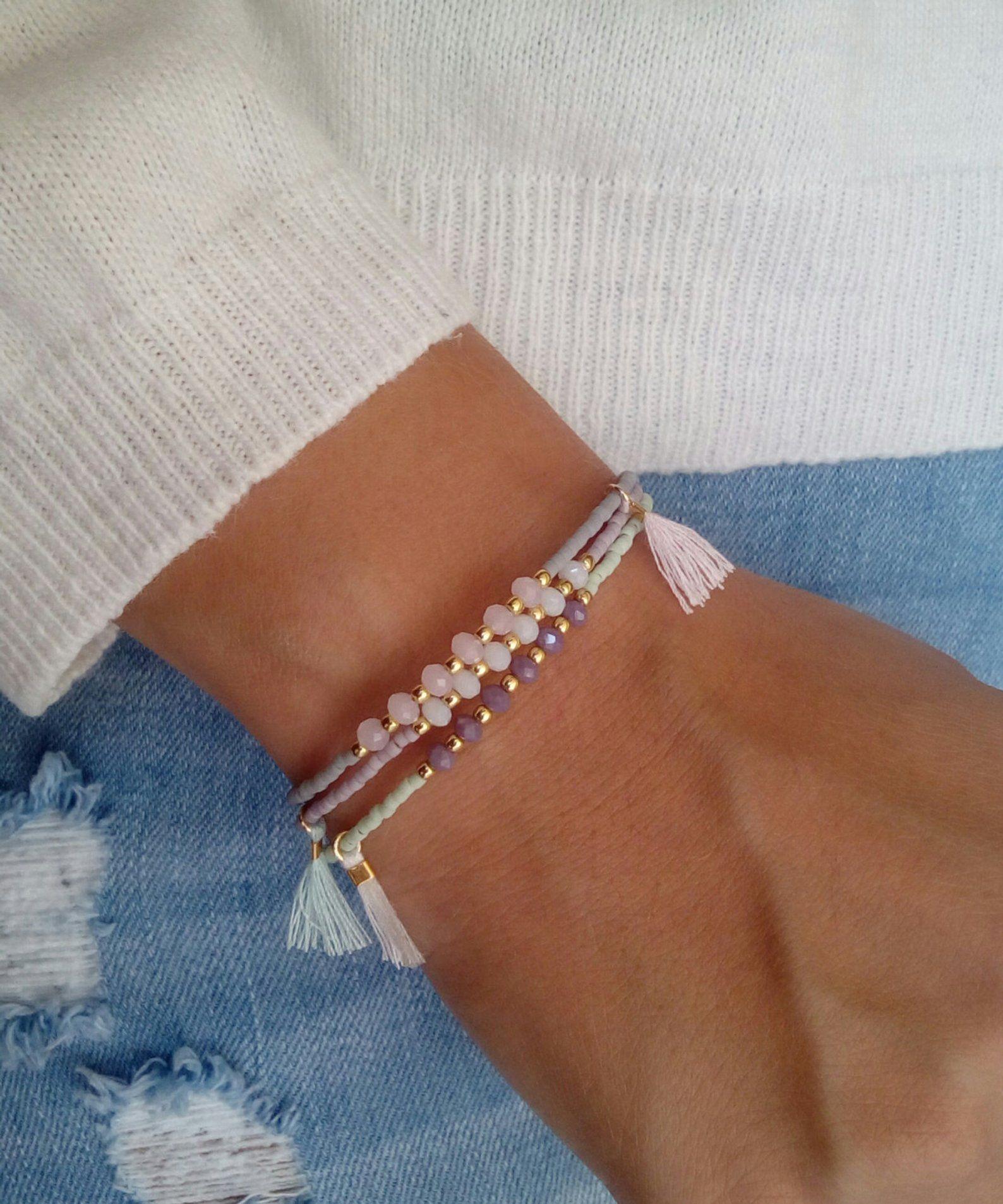 scarpe di separazione 7e413 d76ba Tassel bracelet, Gold bracelet, Multicolor bracelet, Gift ...