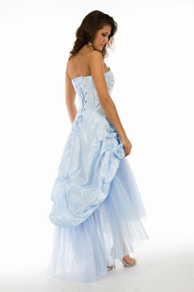 Kleid vorne kurz hinten lang tull