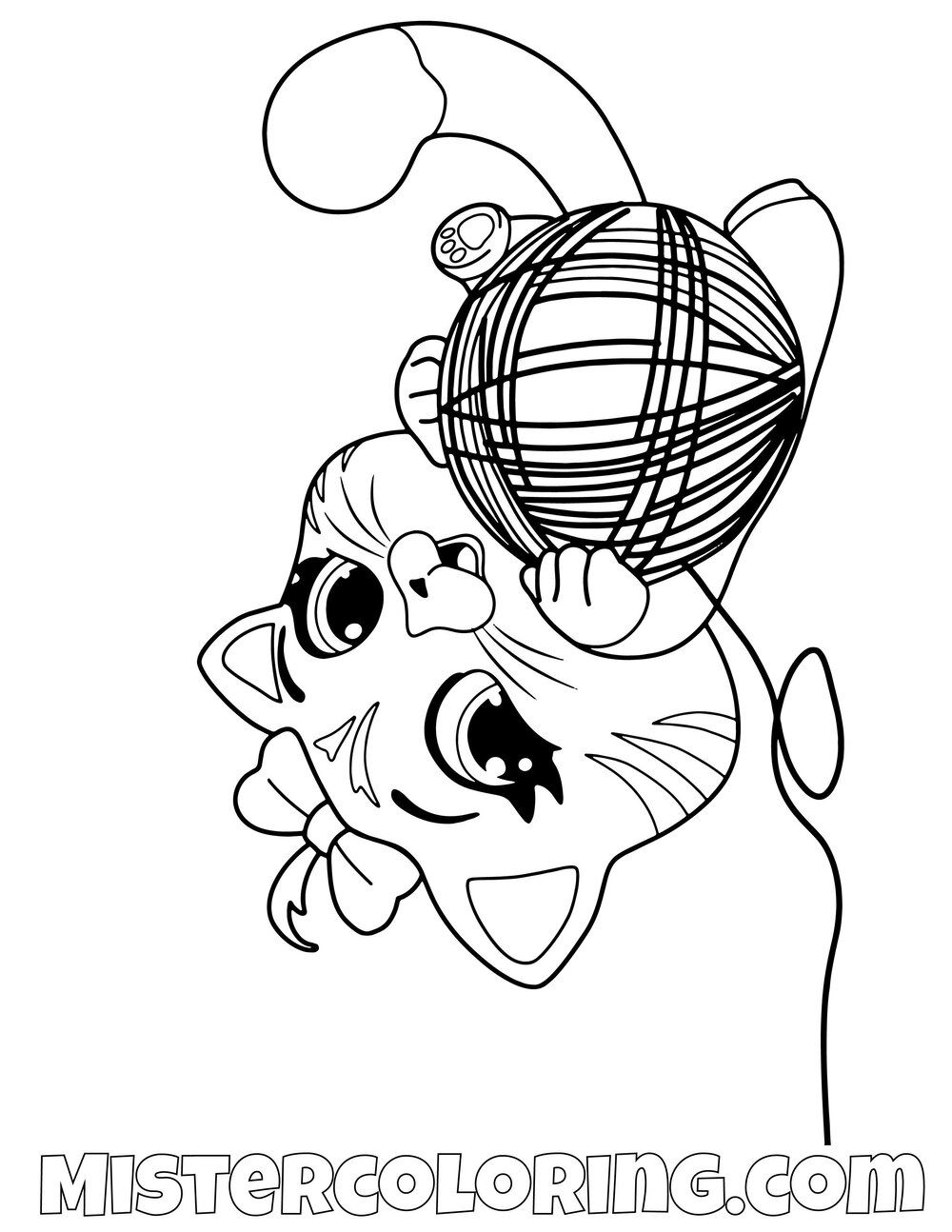 Pilou Playing With Strings 44 Cats Coloring Pages For Kids Cat Coloring Page Coloring Pages For Kids Coloring Pages