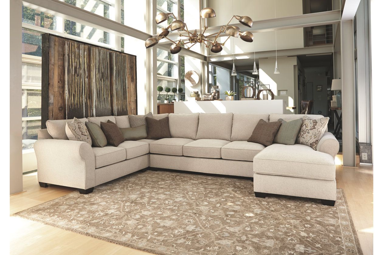 Best Wilcot 4 Piece Sectional With Chaise Furniture Homestore 400 x 300