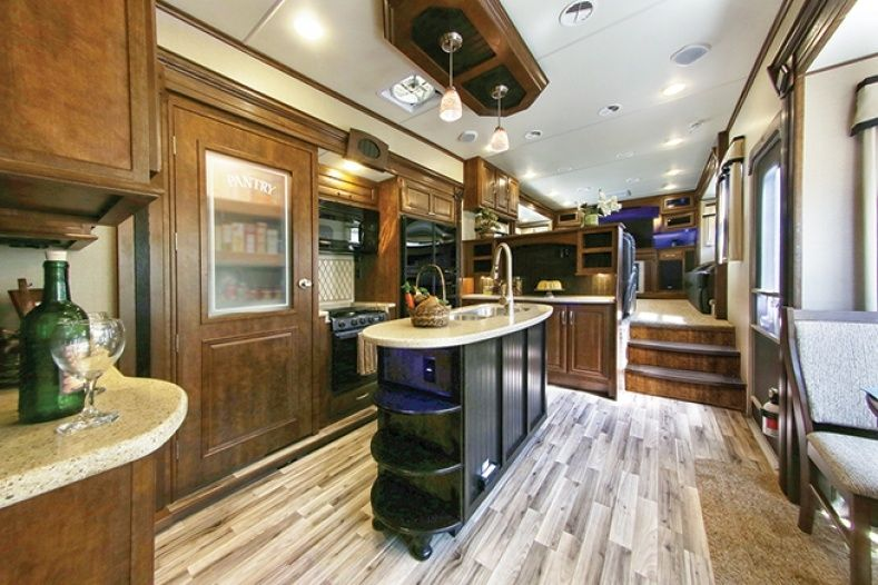 Delightful Fifth Wheels With Front Living Room · Rv CampersCamper ...