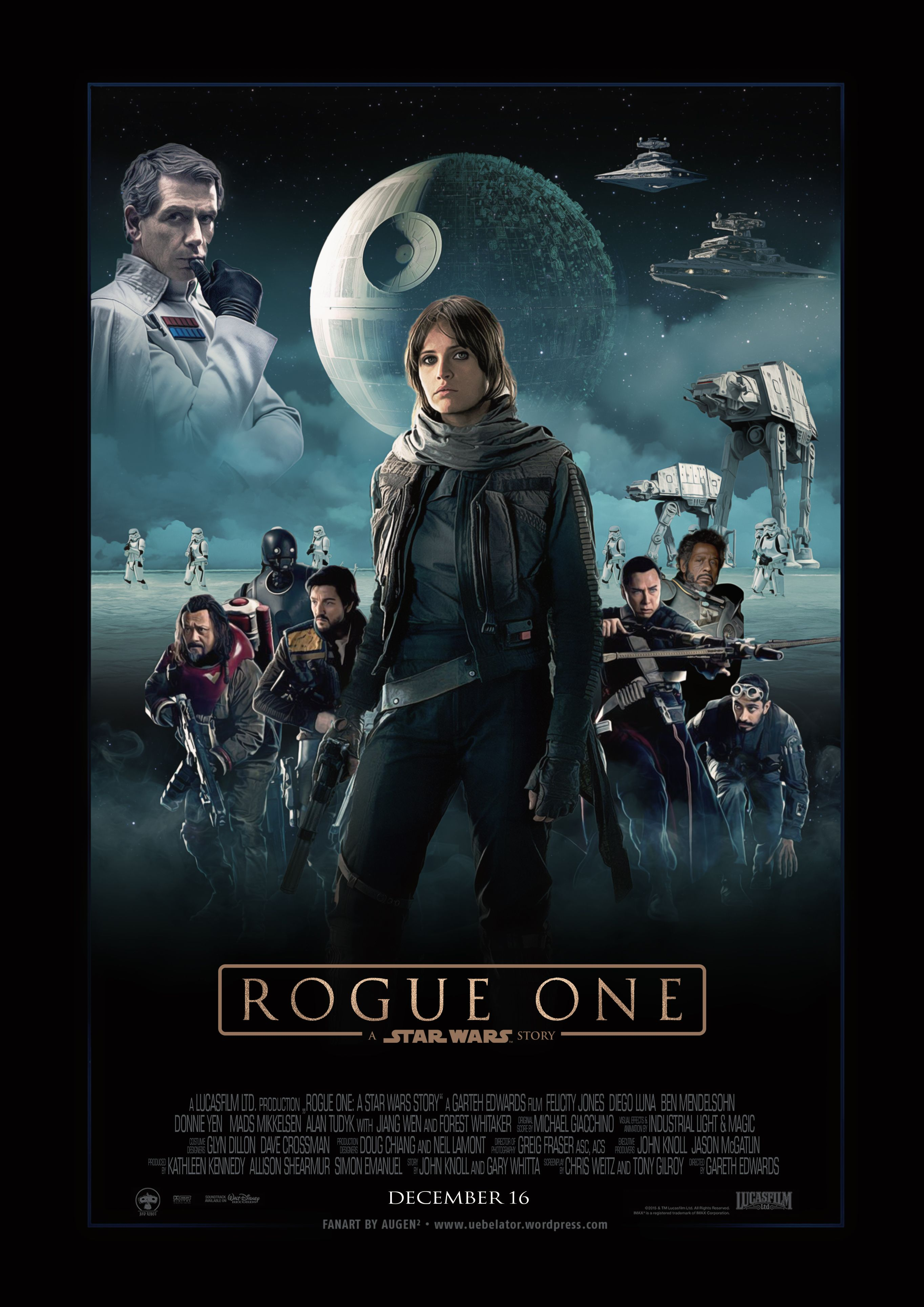 Fanart Movieposter For Rogue One A Star Wars Story Star Wars Movies Posters Star Wars Cartoon Star Wars Poster