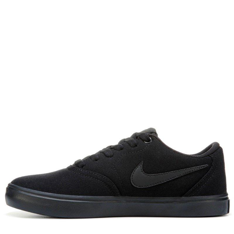 4c30bf57ae5e Nike Women s Nike SB Check Solar Canvas Skate Shoes (Black Black ...