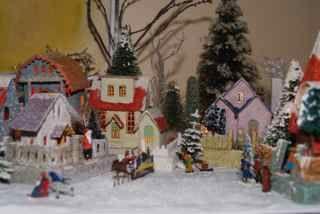 Vintage Christmas VIllage.  Putz