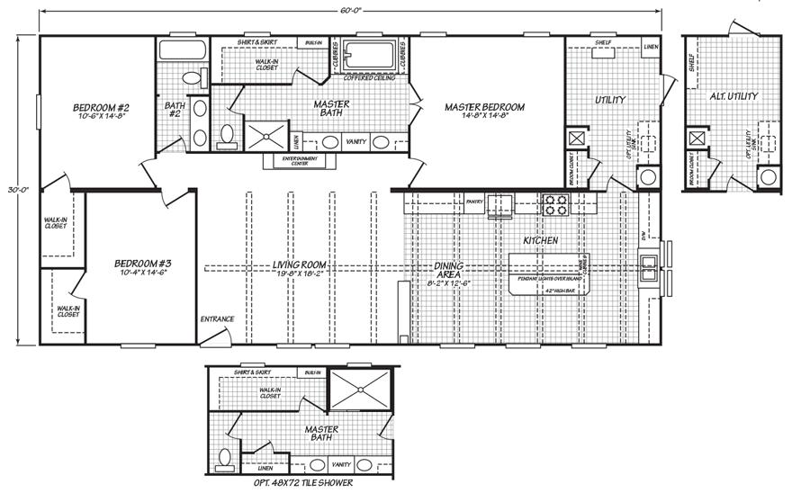 Oldham 32 X 60 1800 Sqft Mobile Home Factory Expo Home Centers Mobile Home Floor Plans Mobile Home Doublewide Mobile Home