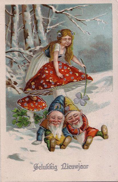 happy newyear, gnomes,abt l900 #happynewyear