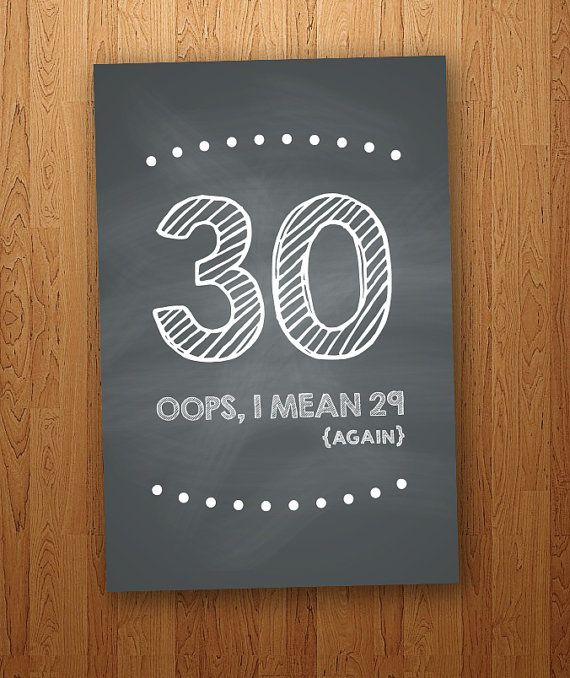 FUNNY 30 Is The New 20 Printable Birthday By CleverPrintables