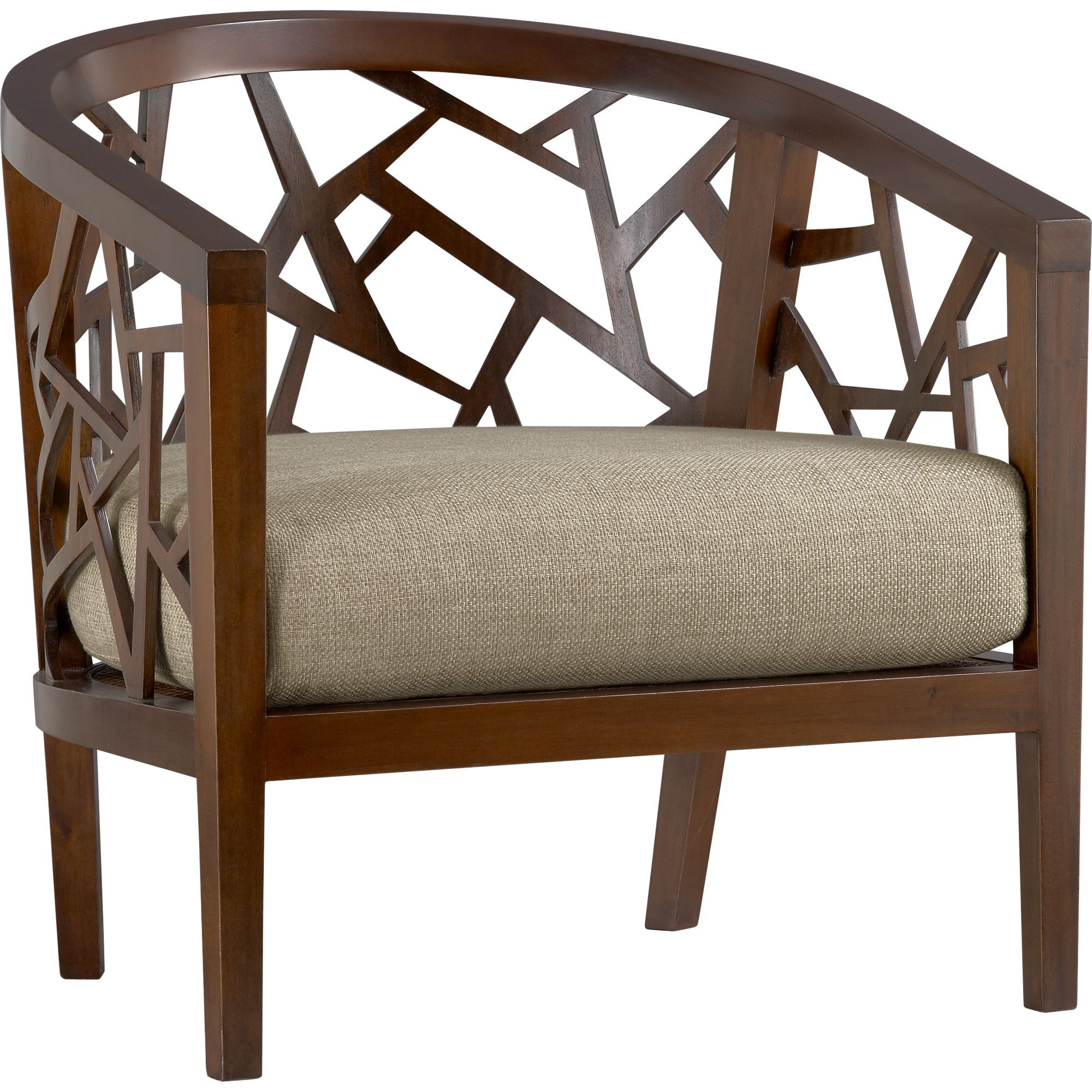 Ankara Chair With Cushion In Chairs Crate And Barrel Furniture