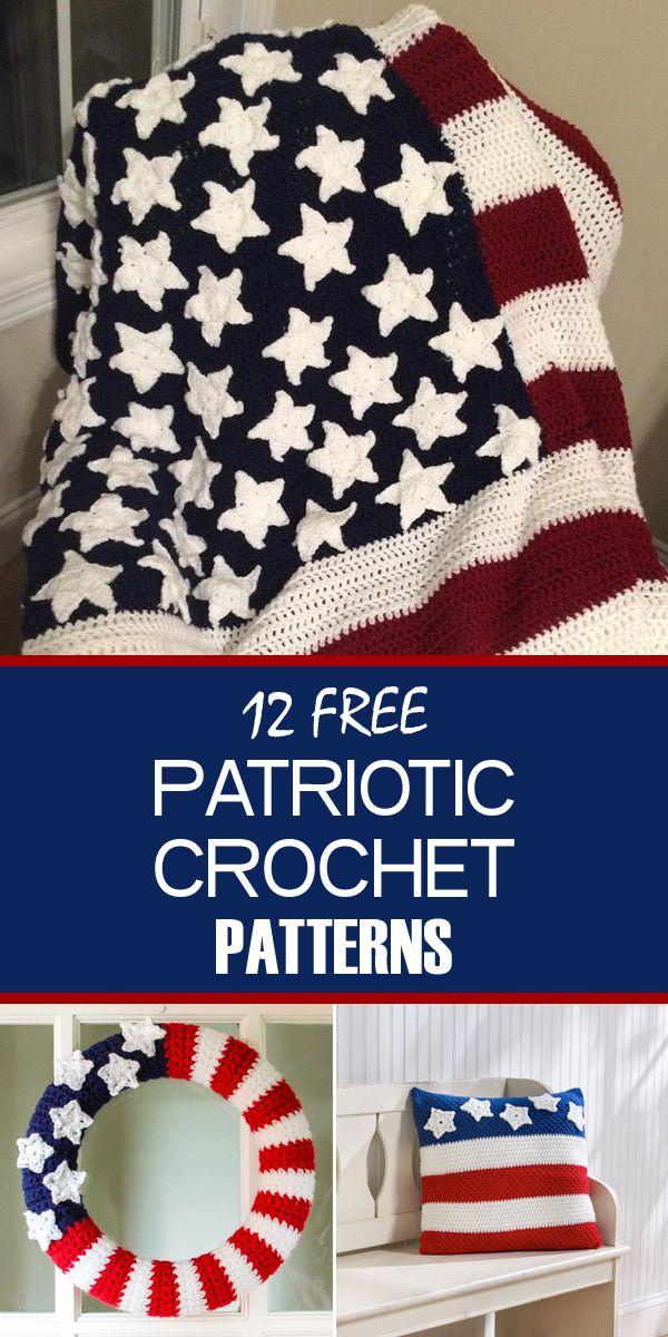 12 Free Patriotic Crochet Patterns