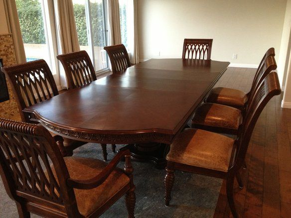 bernhardt dining table & embassy row chairs | tables, mahogany