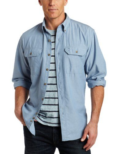 Carhartt Fort Solid Mens Shirt Short Sleeve Denim Blue Chambray All Sizes