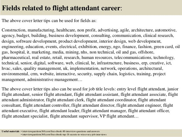 top flight attendant cover letter tips cabin crew sample livecareer best free home design idea inspiration