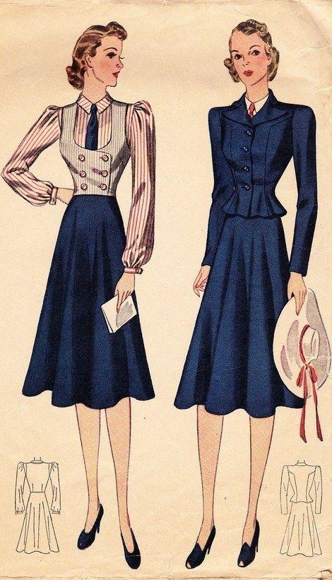 Vintage 1930\'s Women\'s Four Piece Suit Pattern - Simplicity 3114 ...